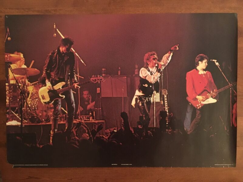The Sex Pistols : Poster - Original Vintage 1979 Concert Shot Pace International