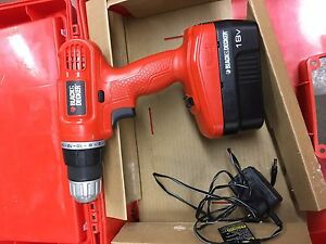 Black & decker cordless drill with accessories