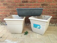 2 large pots like new kept under patio & 1 self watering pot Heathridge Joondalup Area Preview