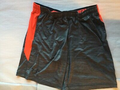 Under Armour Liberate Heat Gear Training Shorts Gray Red Size 2XL New Tags Men