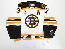 PATRICE BERGERON BOSTON BRUINS AWAY BOSTON STRONG REEBOK EDGE 2.0 7287 JERSEY