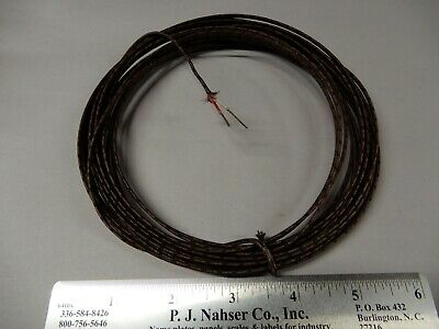 Glass Braid Type J Thermocouple Wire Solid .030 Diameter Around 25 Feet