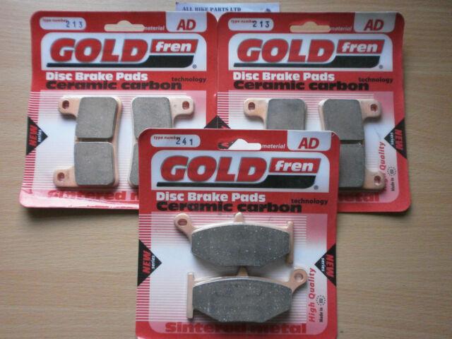 FRONT & REAR SINTERED BRAKE PADS (3xSets) For SUZUKI GSXR 600 K9 2009 GSXR600