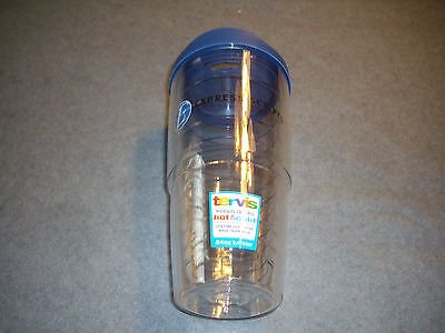 Tervis Tumbler, 24 oz with Travel Lid, Clear,  New, with Logo, Made in USA , new