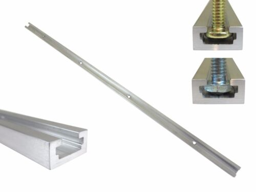 """T Track 48"""" Aluminum 3/4"""" x 3/8"""" for 1/4"""" & 5/16"""" T Bolts & 1/4"""" Hex Bolts"""