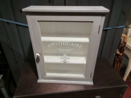 "APOTHICAIRE , Functional Wall Hanging Cabinet , 16""X4""X20"" , Heavy, Vintage"
