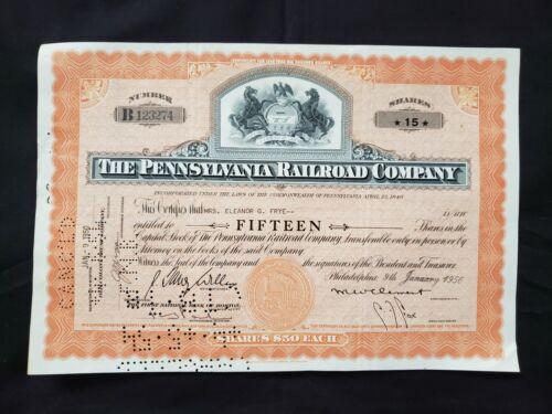 VINTAGE STOCK CERTIFICATE Pennsylvania Railroad Company 1950