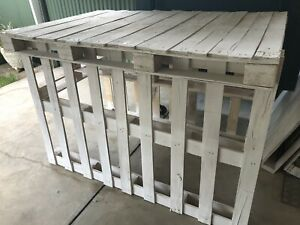 Rustic White Pallet Table