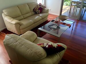 Leather 3 seater & armchair Buderim Maroochydore Area Preview