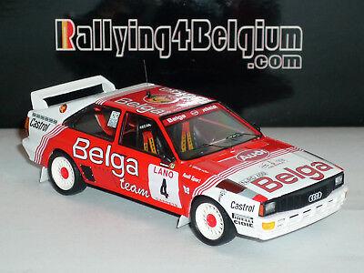 1/43 Trofeu Audi Quattro #4 Belga Rally Ypres Ieper 1983 Duez TR4B03