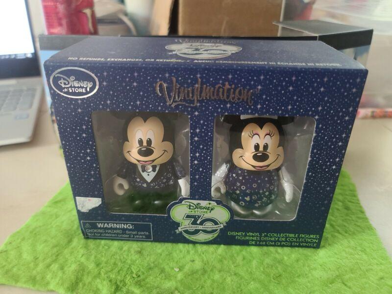 "DISNEY Vinylmation 3"" Park Set Disney Store 30th Anniversary Mickey Minnie Mouse"