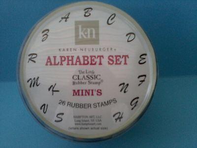 KAREN NEUBURGER - Hampton Art Little Classic Alphabet Rubber Stamp Set