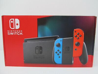 Brand-new Nintendo Switch console system with neon blue & red Joy-Cons