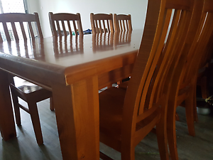 9 pieces wooden dinning table set Frenchville Rockhampton City Preview