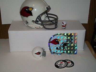 NFL ARIZONA CARDINALS RIDDELL FOOTBALL HELMET LOT - SIZE 2 7/8 Arizona Cardinals Nfl Football Helmet