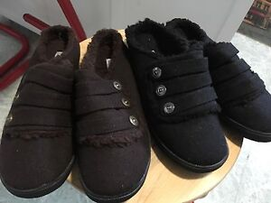 Chaussures type enfileuses doublées