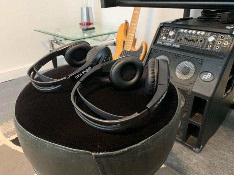Movies To Go IR Headphones 2 Pair