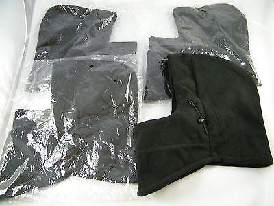 (4) FLEECE HEAD COVER EXTRA PROTECTION UNDER HELMET WARM, BLACK,  1 SIZE  - Fleece Helmet Cover
