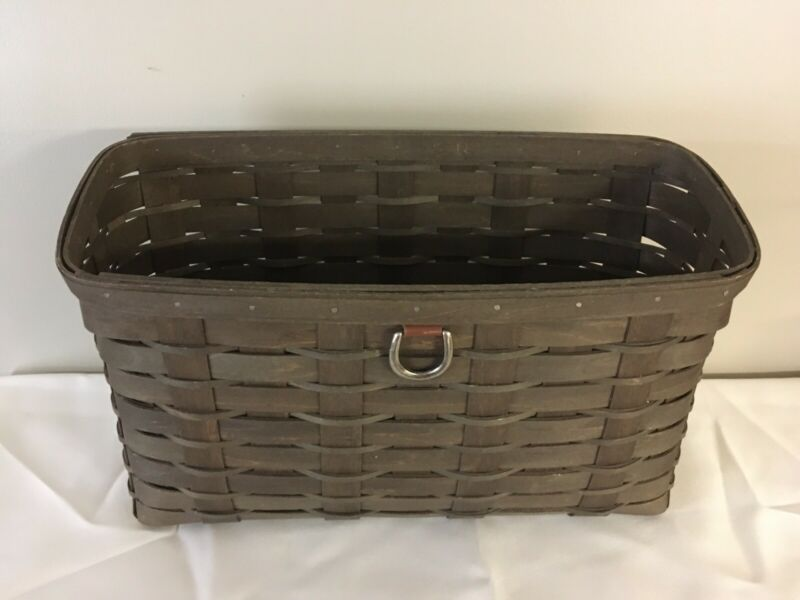 Longaberger 2010 Sort And Store Tall Wall File/ Mail Basket Deep Brown New