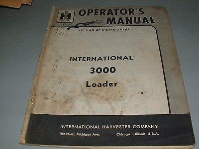 International 3000 Front End Loader Manual Ih Original Oem Manual 1962