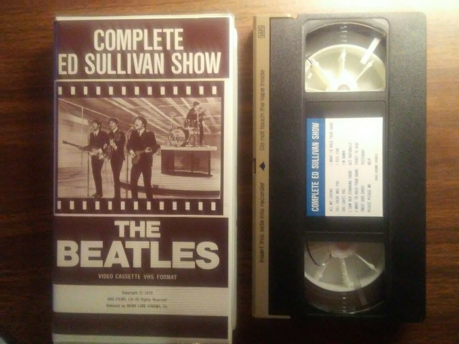 THE BEATLES VHS Rare Complete Ed Sullivan Show Video Cassette Format 1970 - $25.00