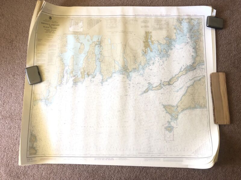 NOAA Nautical Training Chart 1210 Tr Martha