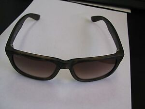 RAY-BAN-Sunglasses-RB-4165-710-13-JUSTIN-Wayfarer-Rubber-Brown-Free-Shipping