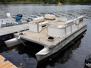Pontoon boat 20 foot Crest no motor As seen in the picture