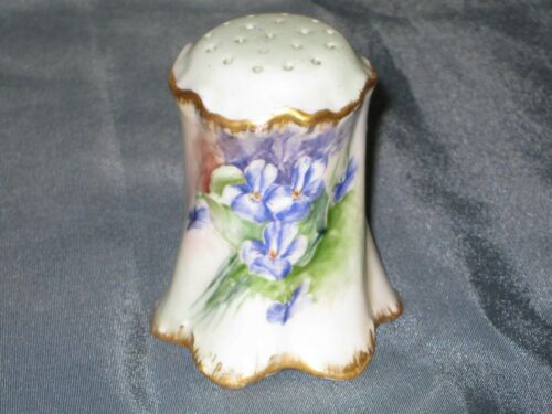 ANTIQUE SUGAR SALT SHAKER--handpainted