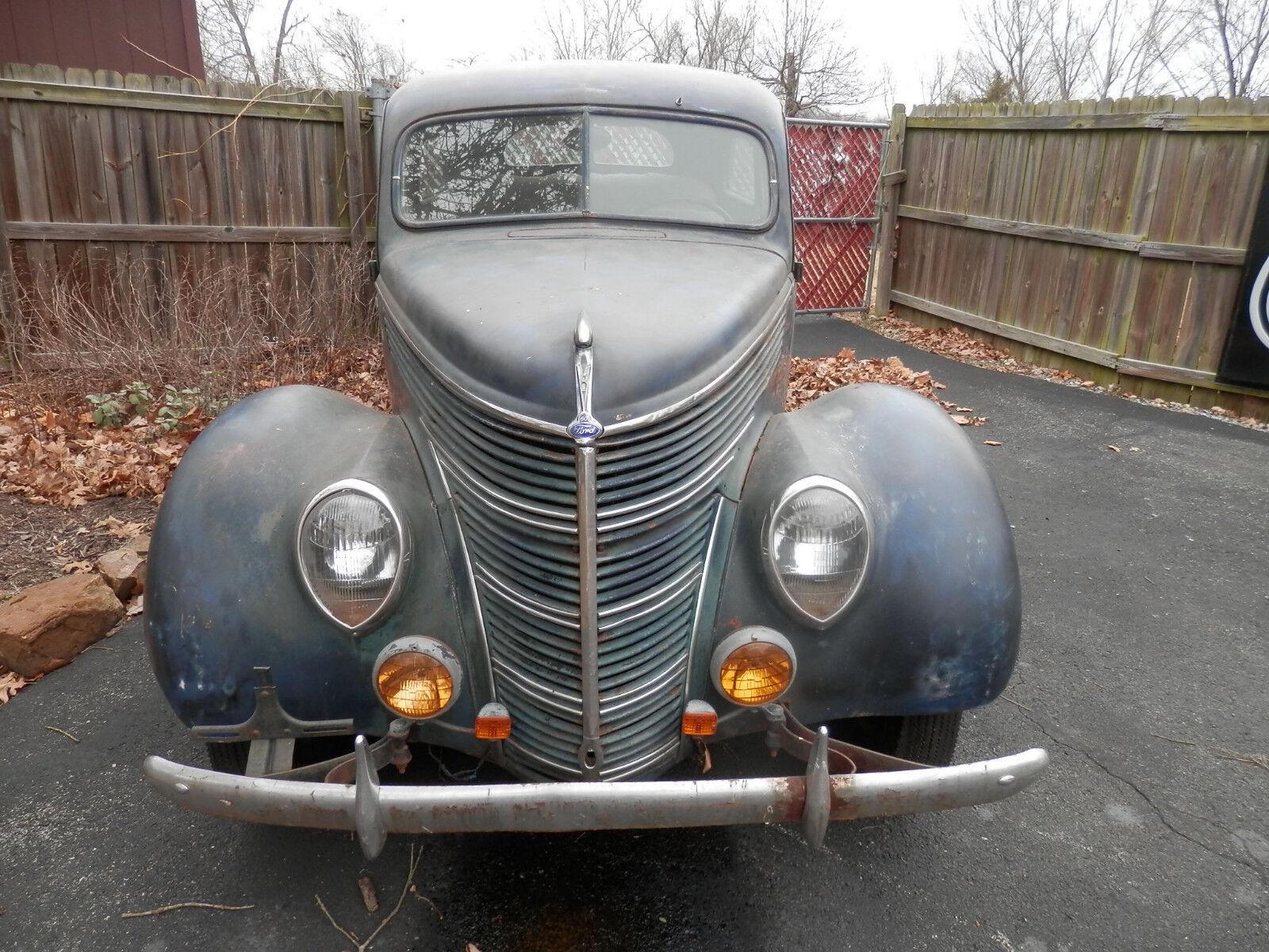 1938 Ford 2 DOOR SEDAN HOT ROD 1938 FORD BARN FIND HOT ROD STREET ROD CUSTOM CLASSIC FLATHEAD ENGINE NO RAT