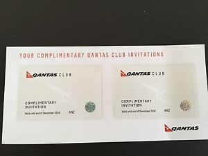 2x Qantas Club Lounge Passes Bardon Brisbane North West Preview