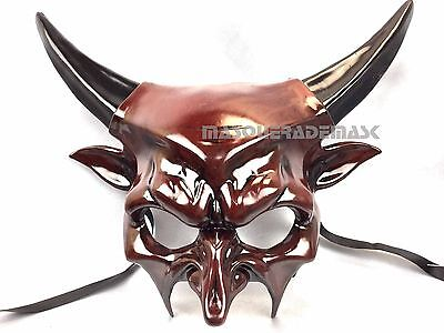 Horned Devil Masqeurade Ball Halloween Costume Party Animal Mask Birthday Party](Satan Birthday Halloween)