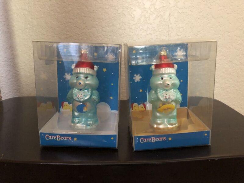 Care Bears Wish/Bedtime Blown Glass Christmas Tree Ornament American Greetings