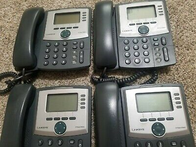 Cisco Linksys Spa942 4-lines Voip Lot Of 4