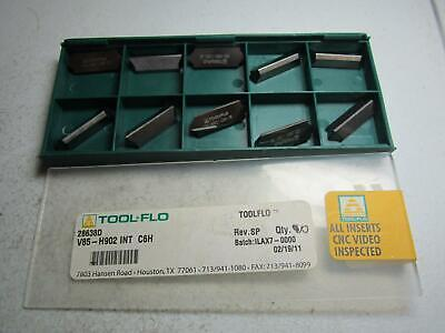 Tool-flo 28638d V85-h902 Int C6h Carbide Grooving Insert - Pack Of 10