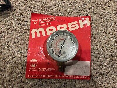 New Sealed Marsh Gauge 500 Psi R-502 Hvac Refrigeration Pressure Dial
