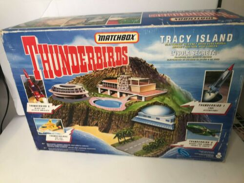 1992 Matchbox Thunderbirds Tracy Island Complete w/Box RARE & COLLECTIBLE