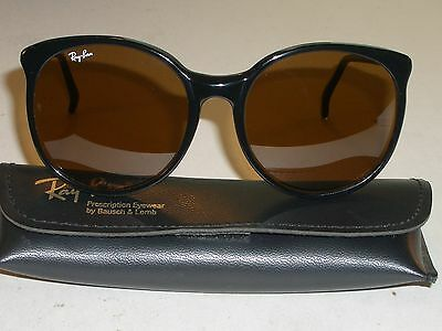 56mm BAUSCH & LOMB RAY BAN W0348 B15 BROWN COLOR CONTRAST LENS ROUND SUNGLASSES