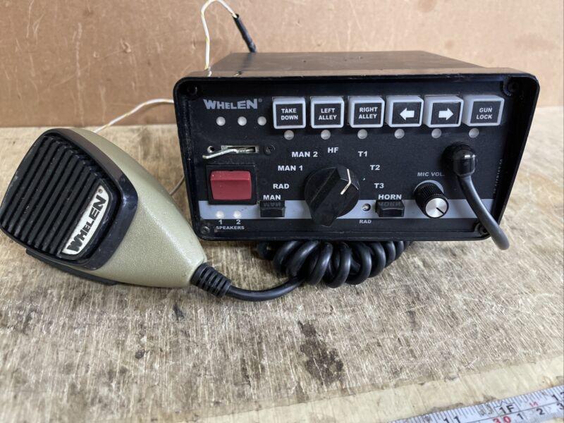 Whelen 295SLSA6 12V Perm Mic 01-0284882-00 C Used Radio Control