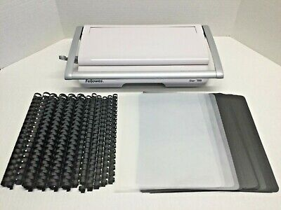 Fellowes Star 150 Comb Binding Machine Manual With Extra Spiral Combs Covers