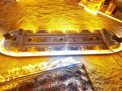 Soundoff Signal Nforce Led Lightbar 48 Amber With White Alleys 2 Front White