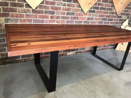 Wooden Furniture Legs Australia solid timber dining table on metal legs | dining tables | gumtree