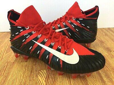 0b308f32e Nike Alpha Menace Elite TD Men s Football Cleats 877140-610 Black Red SIZE  13