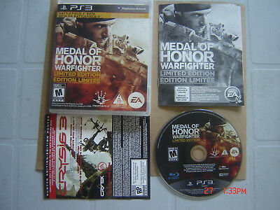 Video Game Sony Playstation 3 Medal Of Honor Warfighter Limited Edition