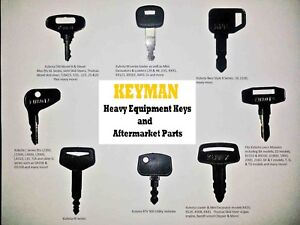Kubota Heavy Equipment / Construction Ignition Key Set (8 Keys)