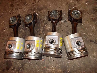 Allis Chalmers C B Tractor Ac Engine Motor 4 Pistons Rings Rods Rod Caps