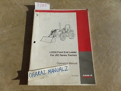 Case Lx232 Front End Loader For Jxc Series Tractor Operators Manual 6-39580