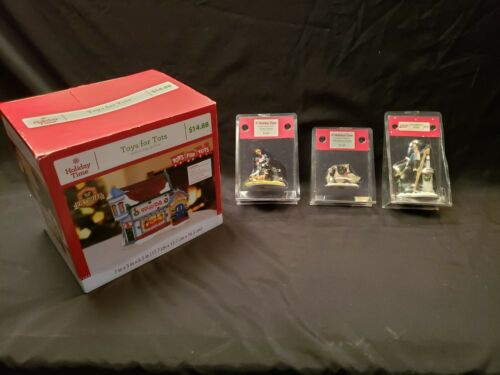 Holiday Time Toys for Tots building and 3 Figurines
