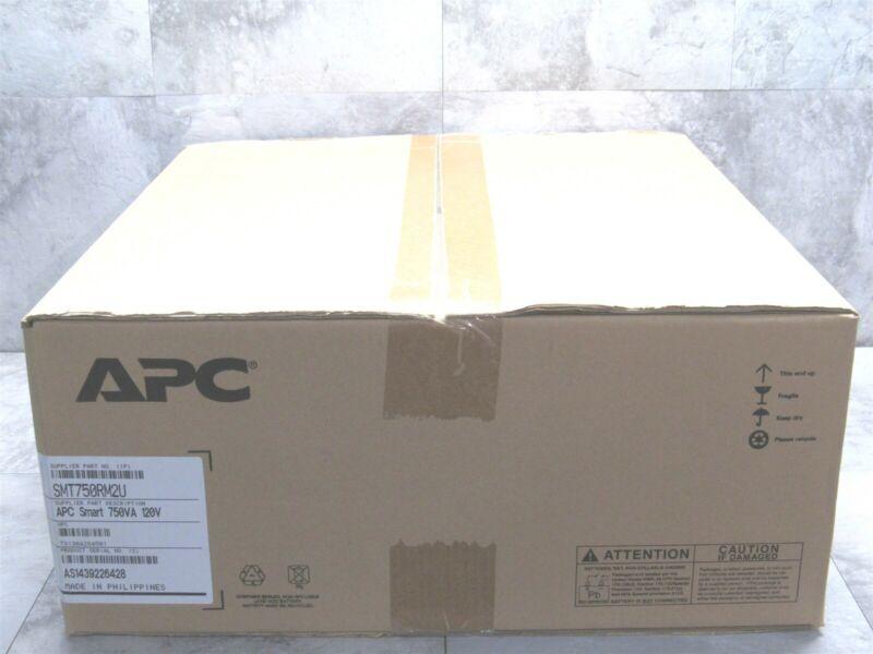 NEW SEALED APC SMART-UPS 750VA LCD Battery Power Backup 2U Rack Mount SMT750RM2U