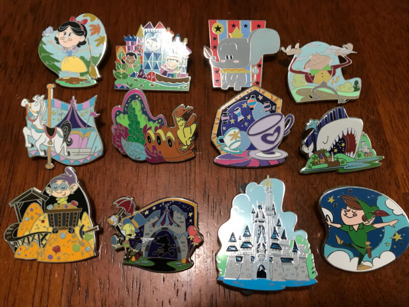 Disney Pins Fancastical Mystery Pin  Complete 12 Pin Set - Cast Exclusive